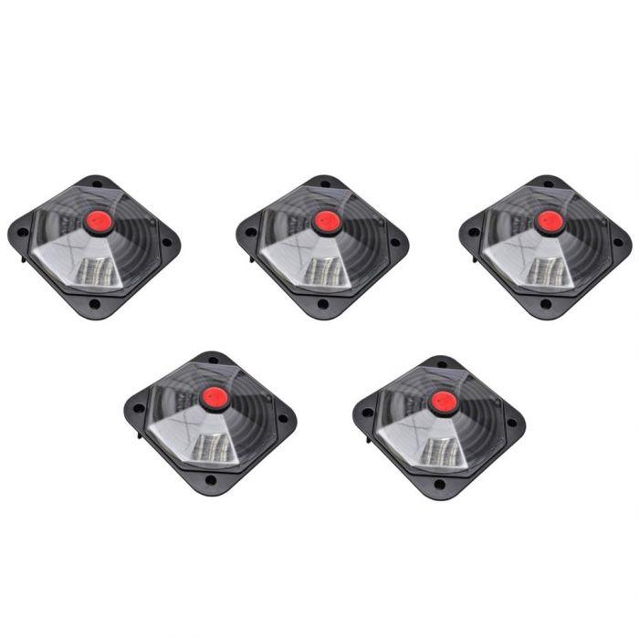 Комплект от 5 соларни колектора за басейни (5x90299)