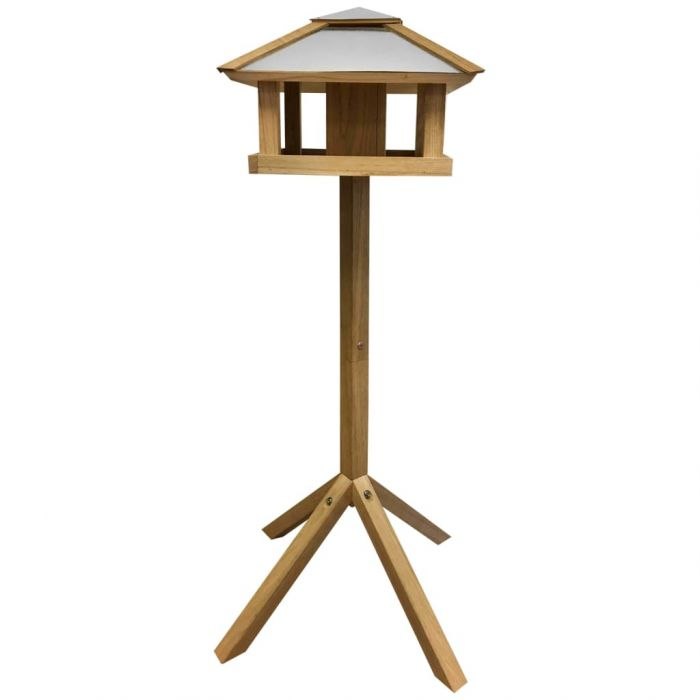 Esschert Design Хранилка за птици, квадратен стоманен покрив, FB433