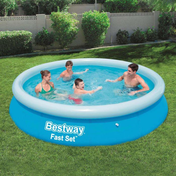Bestway Fast Set Надуваем басейн, кръгъл, 366x76 см, 57273