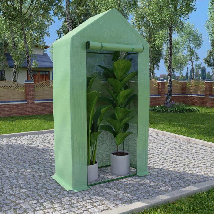Оранжерия със стоманена рамка 0,5 м² 1x0,5x1,9 м