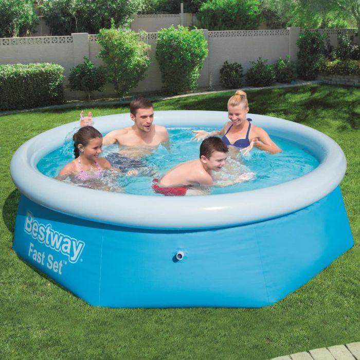 Bestway Fast Set Кръгъл надуваем басейн, 244x66 см, 57265