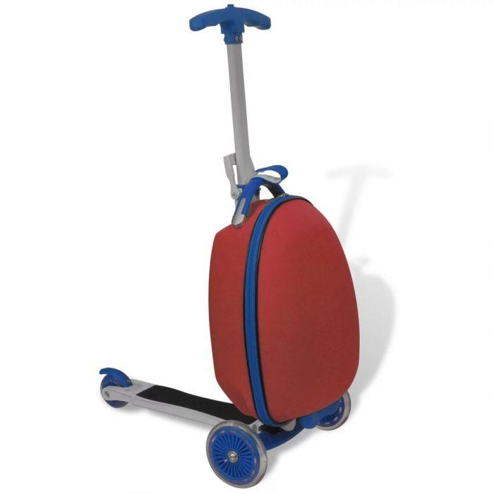 Скутер за деца с куфарче за багаж