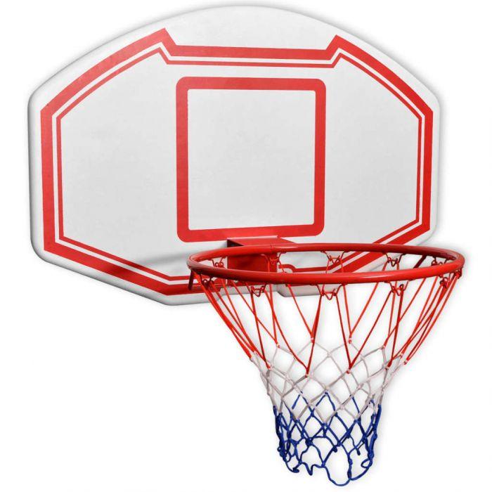 Комплект баскетболно табло от 3 части за стенен монтаж 90x60 см