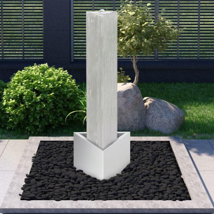 Градински фонтан сребрист 37