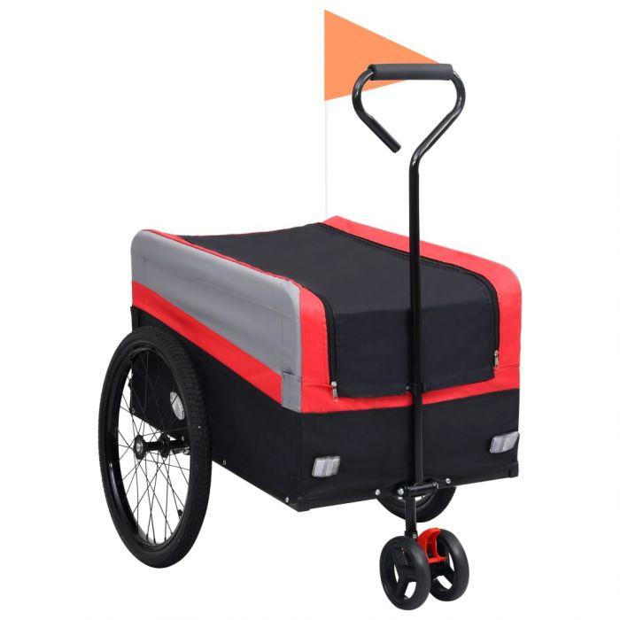 2-в-1 XXL ремарке за велосипед и количка