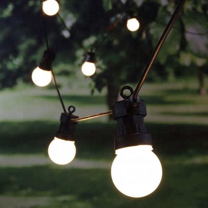 HI LED светлинна верига с 20 топки, 1250 см