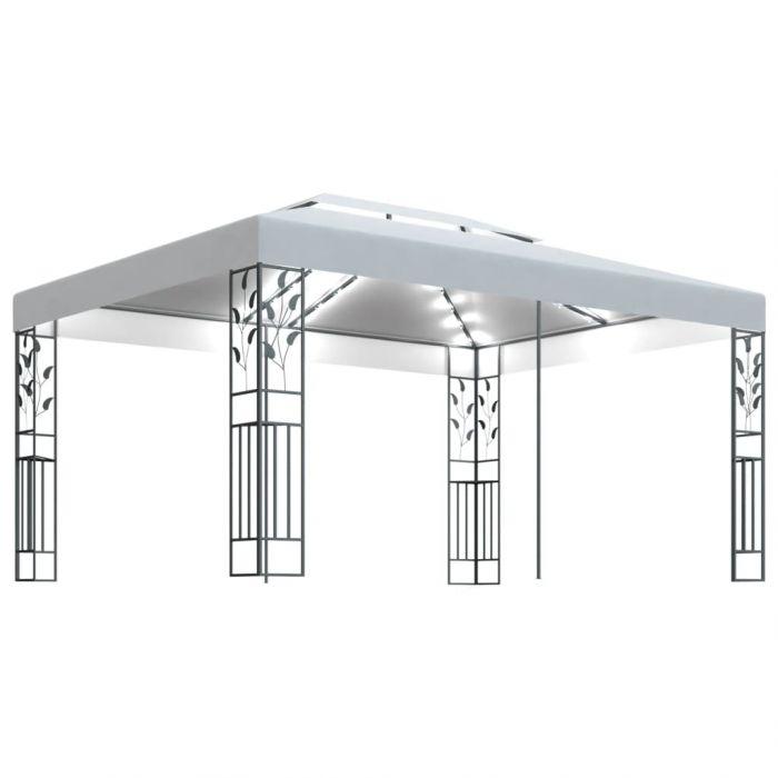 Шатра с двоен покрив и LED светещи стрингове