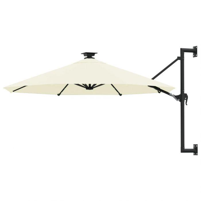 Чадър за монтаж на стена с LED и метален прът