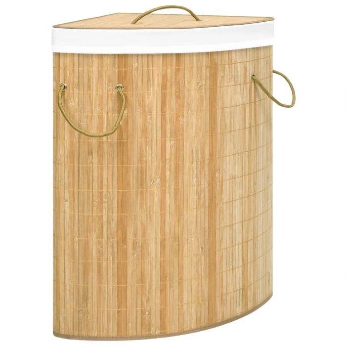 Бамбуков ъглов кош за пране