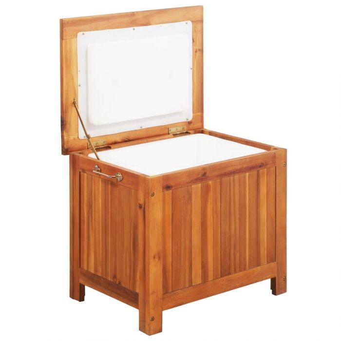 Кутия за лед, акация масив, 63x44x50 см