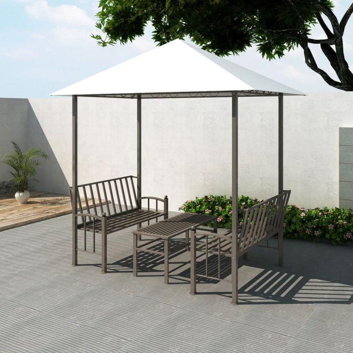 Градинска шатра с маса и пейки
