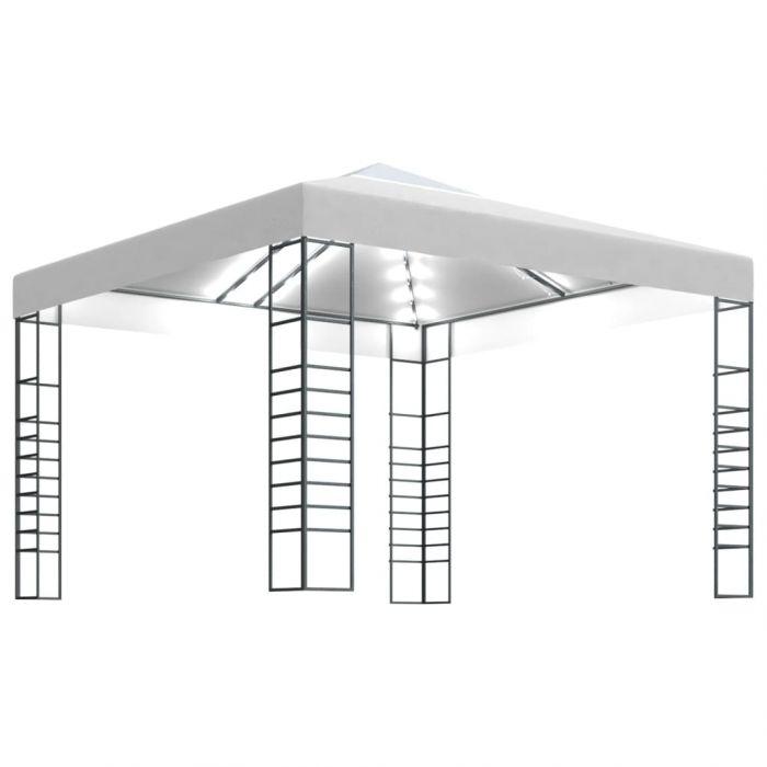Градинска шатра с LED светещи стрингове