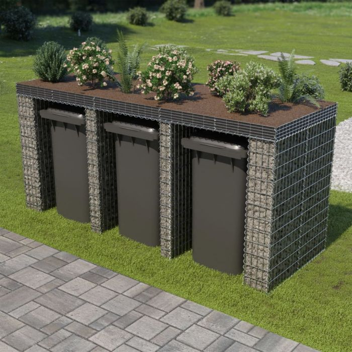 Габионна стена за контейнер поцинкована стомана 270x100x130 см