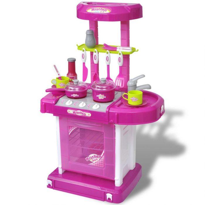 Детска кухня за игра със светлинни и звукови ефекти