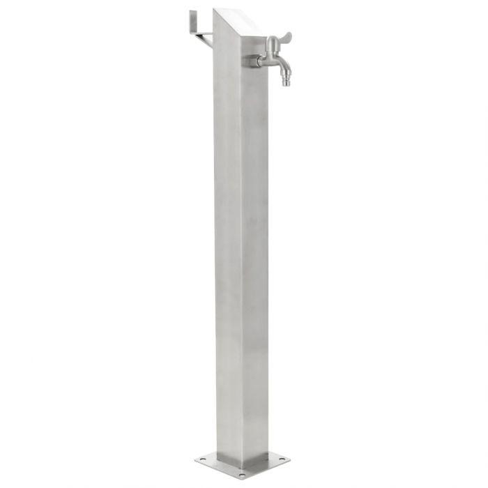 Градинска чешма Jacobs, неръждаема стомана, квадратна колона, 95 см