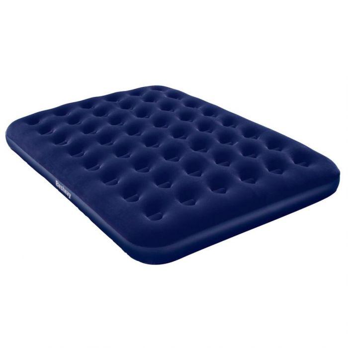 Bestway Надуваемо флокирано въздушно легло, 203x152x22 см, 67003