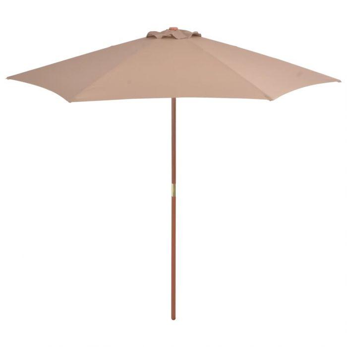 Градински чадър с дървен прът Bjorn