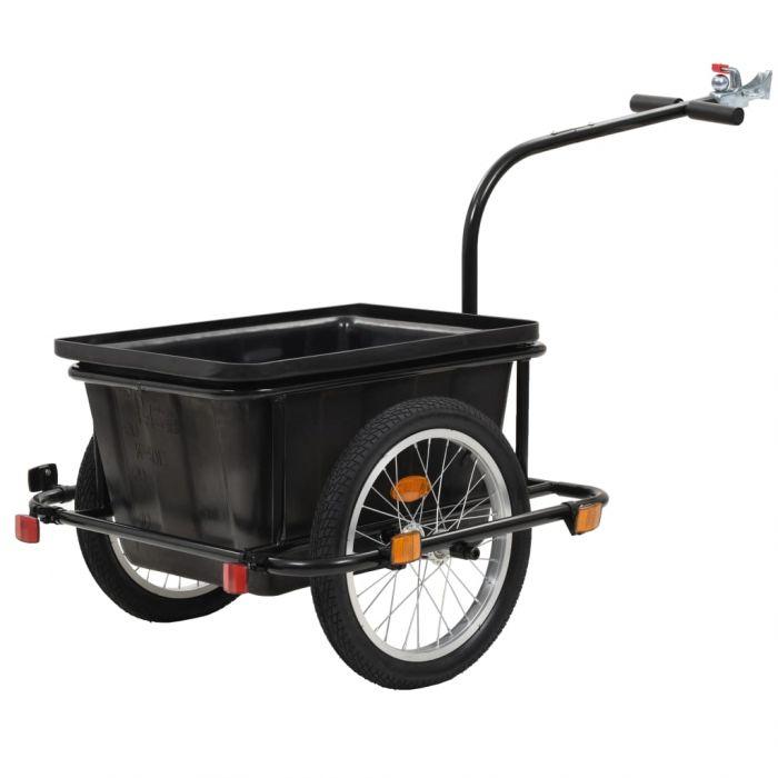 Товарно ремарке за колело, черно, 50 л