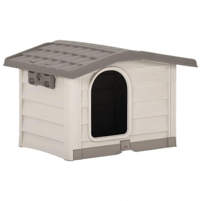 Кучешка колиба, бежово и кафяво, 89x75x62 см