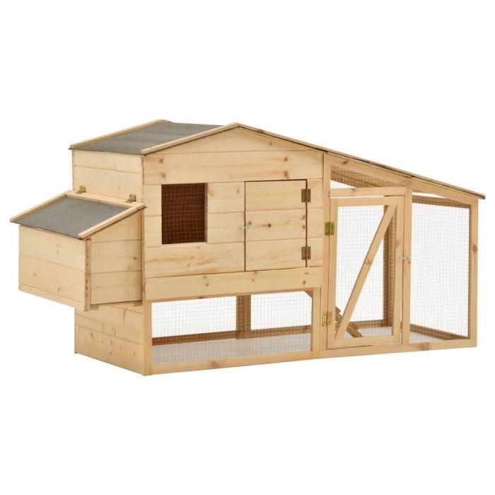 Къща за пилета, чам масив, 178x67x92 см
