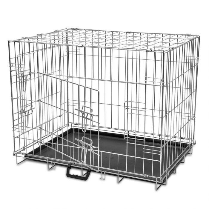 Сгъваема метална кучешка клетка