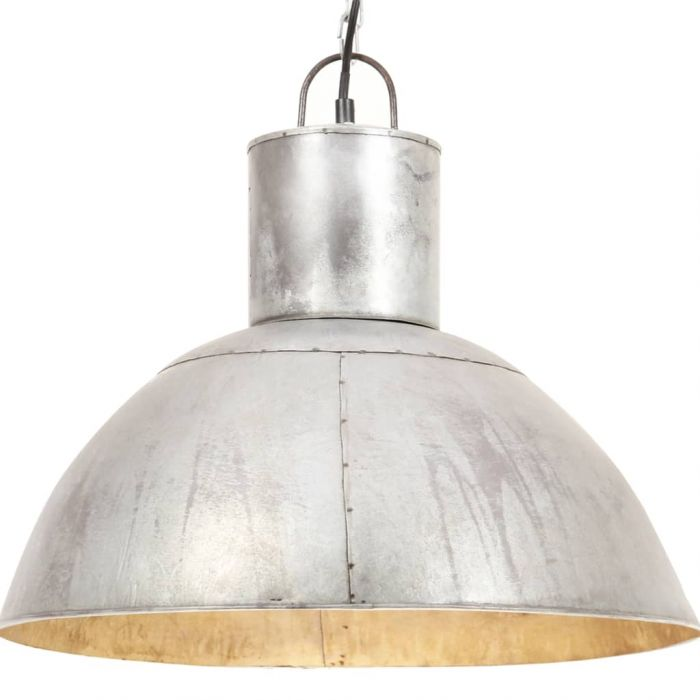 Пенделна лампа 25 W сребриста кръгла 48 см E27