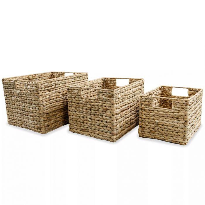 Кошници за съхранение, 3 части, воден хиацинт