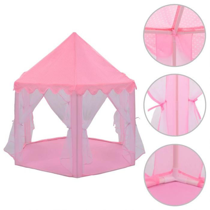 Палатка за принцеси, розова