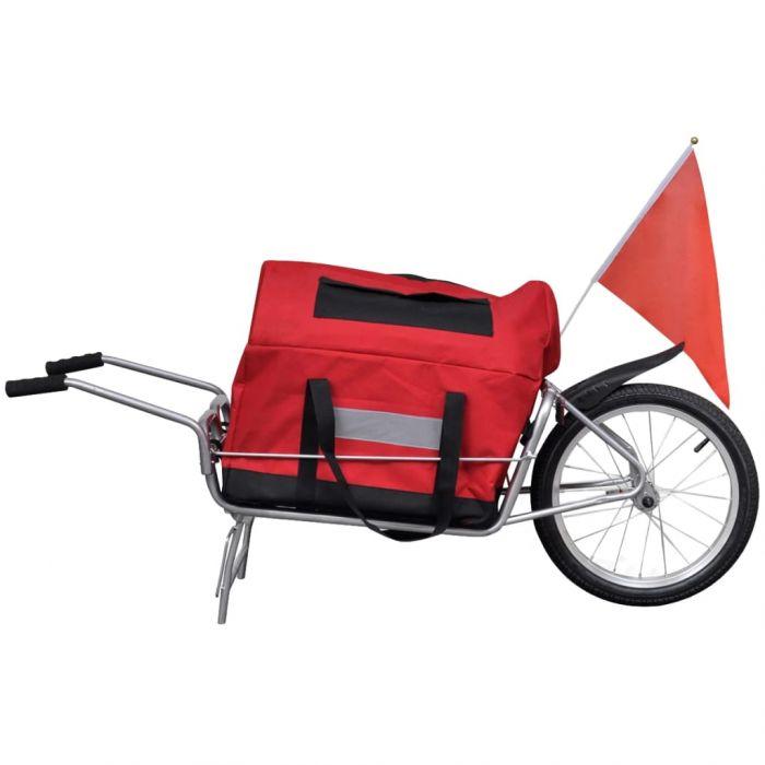 Товарно ремарке за колело с една гума и транспортна чанта